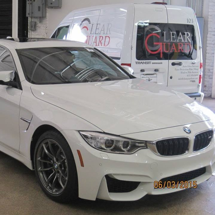 Clearguard Van and BMW M4 in our indoor parking lot