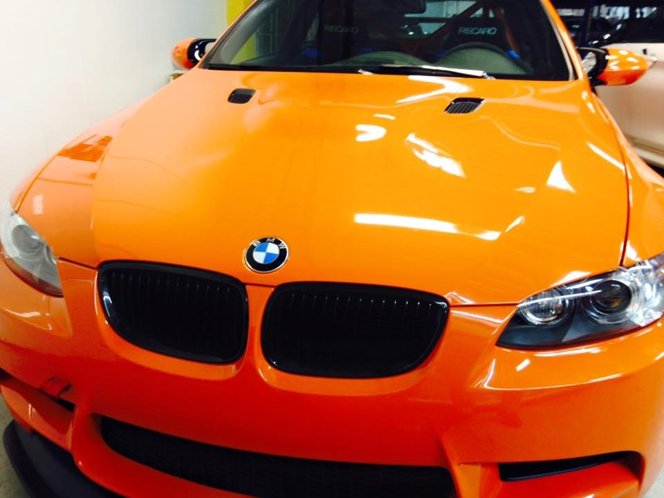 BMW M3 wrapped up 3M Pro Series Paint Protection Film full hood, fenders, bumper